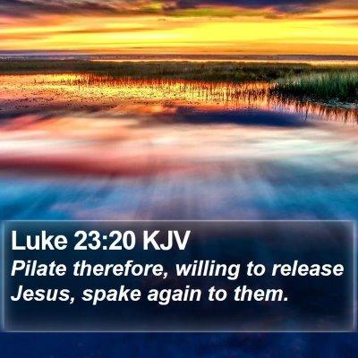 Luke 23:20 KJV Bible Verse Image