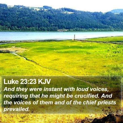 Luke 23:23 KJV Bible Verse Image