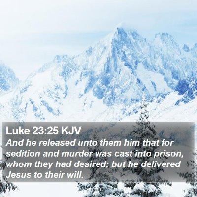 Luke 23:25 KJV Bible Verse Image