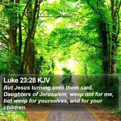 Luke 23:28 KJV Bible Verse Image