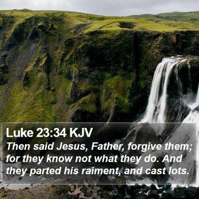 Luke 23:34 KJV Bible Verse Image