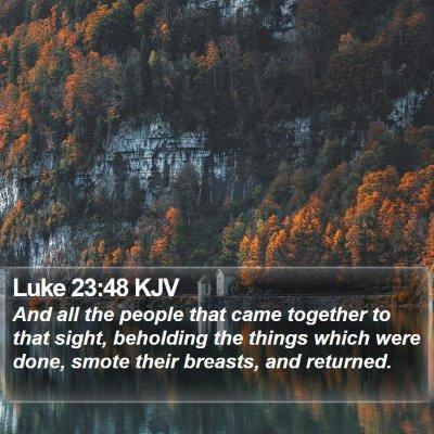 Luke 23:48 KJV Bible Verse Image