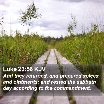 Luke 23:56 KJV Bible Verse Image