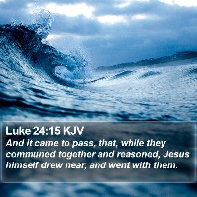 Luke 24:15 KJV Bible Verse Image
