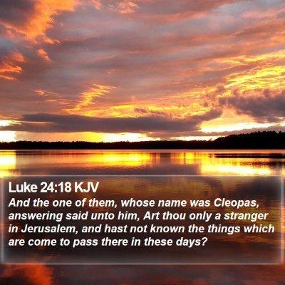 Luke 24:18 KJV Bible Verse Image