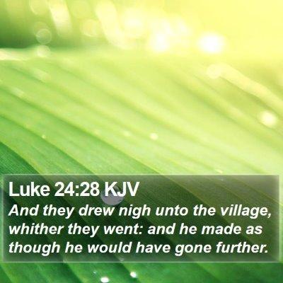 Luke 24:28 KJV Bible Verse Image