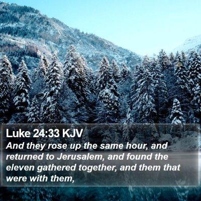Luke 24:33 KJV Bible Verse Image