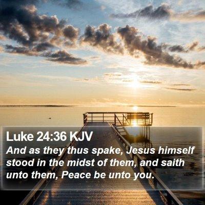 Luke 24:36 KJV Bible Verse Image