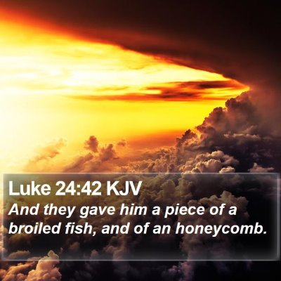 Luke 24:42 KJV Bible Verse Image
