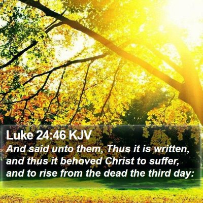 Luke 24:46 KJV Bible Verse Image