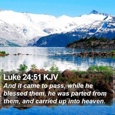 Luke 24:51 KJV Bible Verse Image