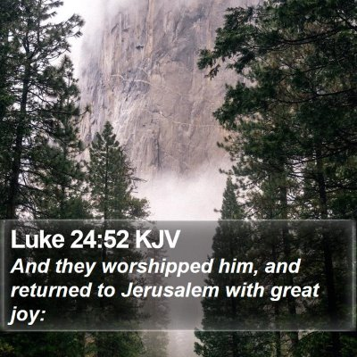 Luke 24:52 KJV Bible Verse Image