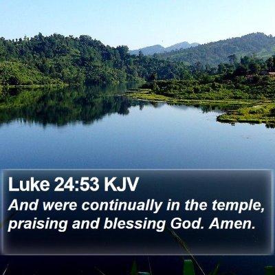 Luke 24:53 KJV Bible Verse Image