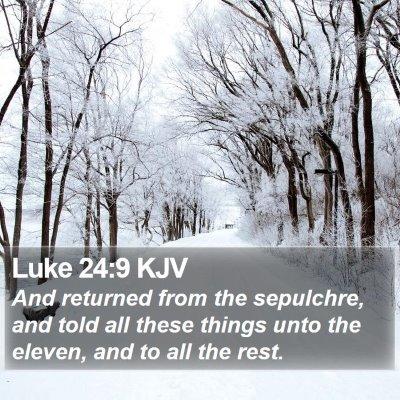 Luke 24:9 KJV Bible Verse Image