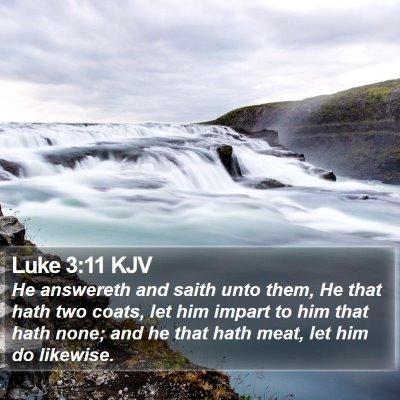Luke 3:11 KJV Bible Verse Image