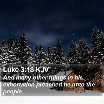 Luke 3:18 KJV Bible Verse Image