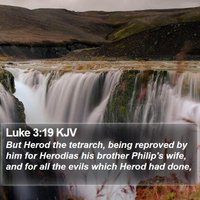 Luke 3:19 KJV Bible Verse Image