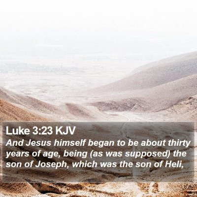 Luke 3:23 KJV Bible Verse Image