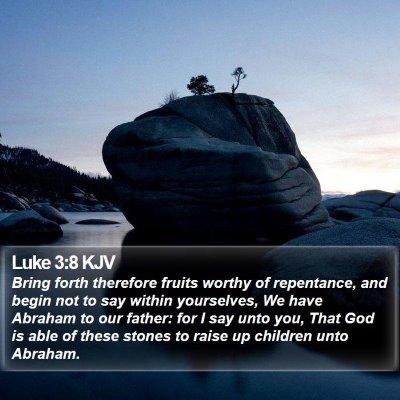Luke 3:8 KJV Bible Verse Image