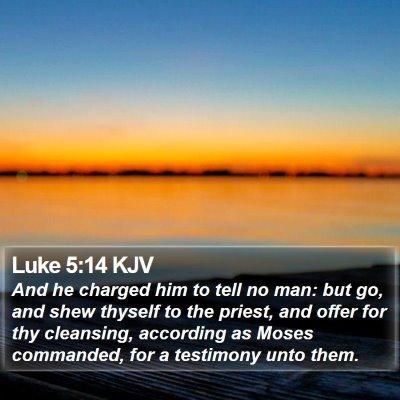 Luke 5:14 KJV Bible Verse Image