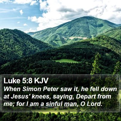 Luke 5:8 KJV Bible Verse Image