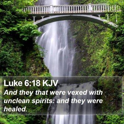 Luke 6:18 KJV Bible Verse Image