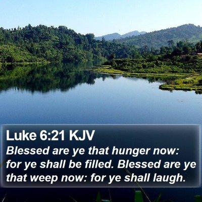 Luke 6:21 KJV Bible Verse Image