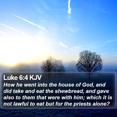 Luke 6:4 KJV Bible Verse Image