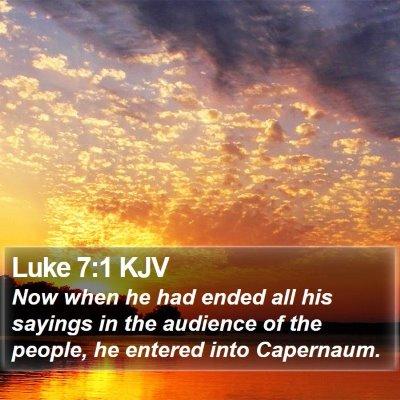 Luke 7:1 KJV Bible Verse Image