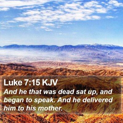 Luke 7:15 KJV Bible Verse Image