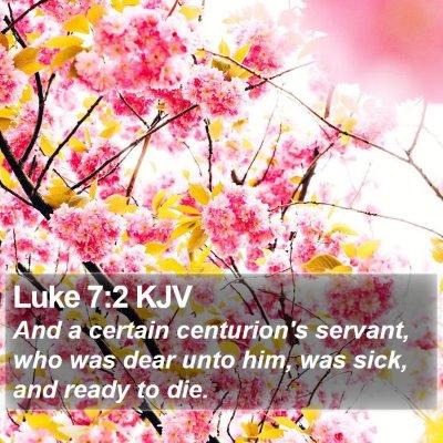 Luke 7:2 KJV Bible Verse Image