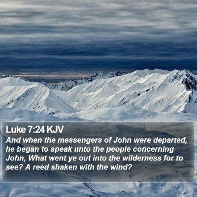 Luke 7:24 KJV Bible Verse Image