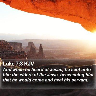 Luke 7:3 KJV Bible Verse Image