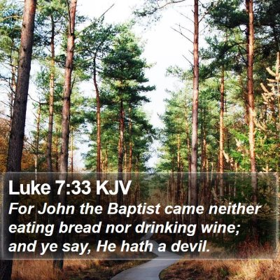 Luke 7:33 KJV Bible Verse Image