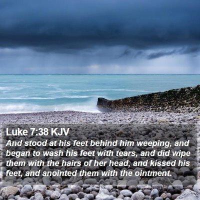 Luke 7:38 KJV Bible Verse Image