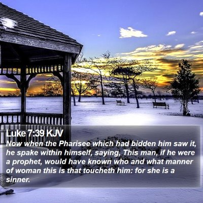 Luke 7:39 KJV Bible Verse Image