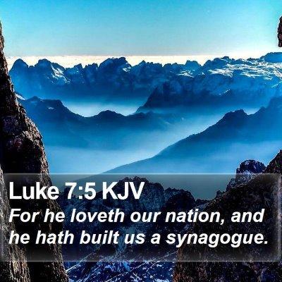 Luke 7:5 KJV Bible Verse Image