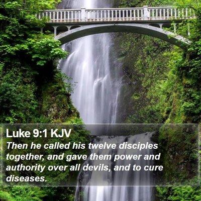Luke 9:1 KJV Bible Verse Image