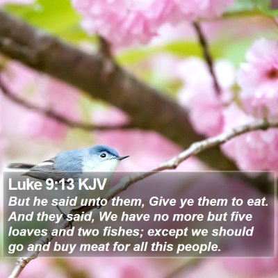 Luke 9:13 KJV Bible Verse Image