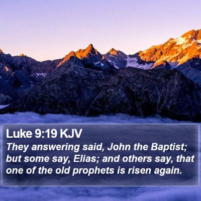 Luke 9:19 KJV Bible Verse Image