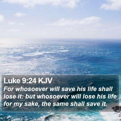 Luke 9:24 KJV Bible Verse Image