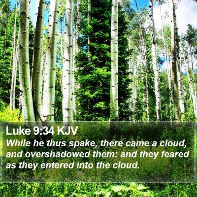 Luke 9:34 KJV Bible Verse Image
