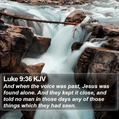 Luke 9:36 KJV Bible Verse Image
