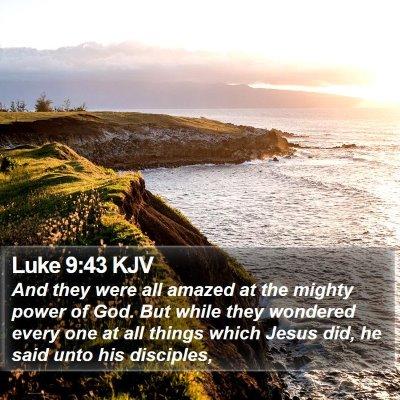 Luke 9:43 KJV Bible Verse Image