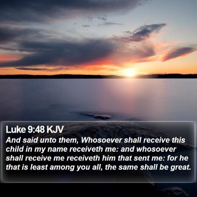 Luke 9:48 KJV Bible Verse Image