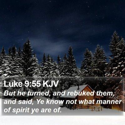 Luke 9:55 KJV Bible Verse Image