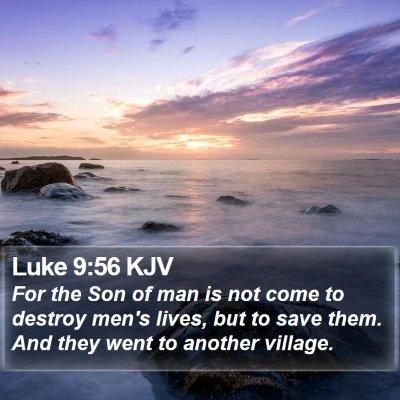 Luke 9:56 KJV Bible Verse Image