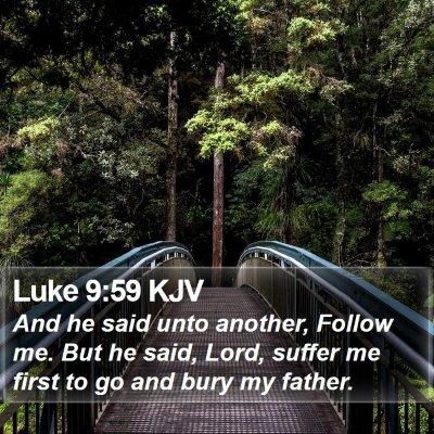 Luke 9:59 KJV Bible Verse Image