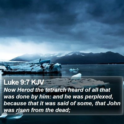 Luke 9:7 KJV Bible Verse Image