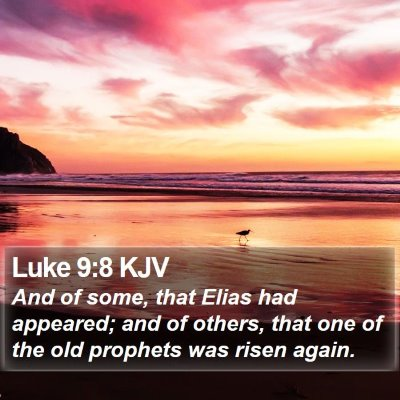 Luke 9:8 KJV Bible Verse Image